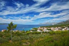 Далматинское побережье Хорватия Стоковое Изображение