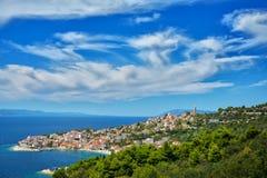 Далматинское побережье Хорватия Стоковая Фотография RF
