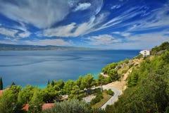 Далматинское побережье Хорватия Стоковое Фото