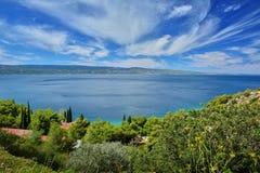 Далматинское побережье Хорватия Стоковые Изображения RF