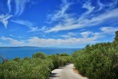 Далматинское побережье Хорватия Стоковая Фотография