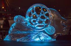 Двадцатый международный фестиваль ледяной скульптуры в Jelgava Латвии стоковое фото rf