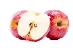 Два с половиной яблок Стоковые Фото