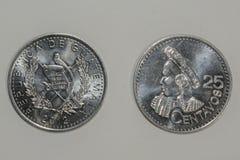Двадцать пять центов Quetzal стоковая фотография