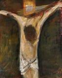 двенадцатый крестный путь, Иисус умирает на кресте стоковое изображение rf
