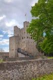 Двенадцатый век замка Rochester Замок и руины городищ Кент, юговосточная Англия Стоковые Изображения