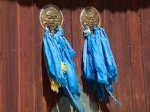 Двери буддийского монастыря стоковое фото rf