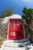 Двери в Mykonos Стоковые Изображения RF