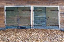 Двери гаража в осени Стоковое Изображение