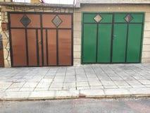 Двери гаража Стоковые Фото
