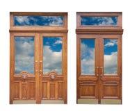 двери деревянные стоковое изображение