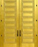 двери золотистые стоковое фото