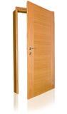 двери изолировали деревянное Стоковая Фотография