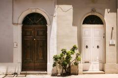 Двери и балконы Windows Стоковое Фото