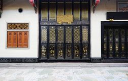 Двери и окно в китайском фото виска Стоковое Изображение RF