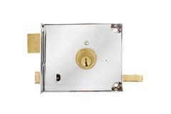 Двери и ручки двери с ключом изолированные на белизне Стоковая Фотография RF