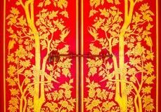 двери красные Стоковое Изображение