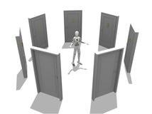 двери множественные Стоковое фото RF