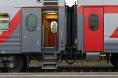 Двери пассажирского поезда Стоковая Фотография