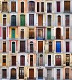 двери передняя Испания barcelona Стоковое фото RF