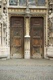 Двери собора Lausanne главные Стоковая Фотография