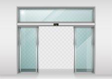 Двери сползая стекла автоматические Стоковая Фотография