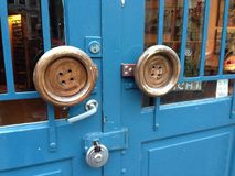 Двери старого стиля в Амстердаме Стоковая Фотография