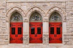 Двери церков St Mark объединенной методист, Атланты, США стоковое изображение rf