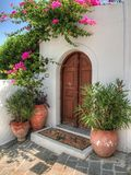 Двери (HDR) Lindos-Родос Стоковое фото RF