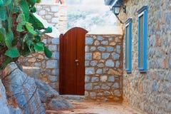 Дверная рама окнами Стоковые Изображения RF