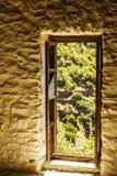 Дверная рама сделанная из древесины стоковые фото
