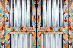 Дверная рама сияющей картины маслом стальная Стоковые Изображения RF