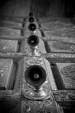Дверные звоноки виска в виске Индии индусском Стоковые Изображения RF