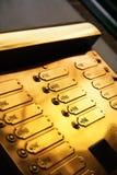 дверные звоноки золотистые Стоковые Изображения RF