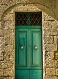 дверь аквамарина старая Стоковая Фотография RF