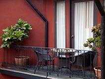 дверь балкона вне Стоковая Фотография
