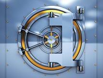 дверь банка вольтижировала Стоковое Изображение