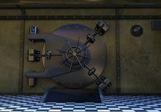 Дверь банковского хранилища, сейф, замок Стоковое фото RF
