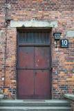 дверь блока 10 auschwitz к Стоковое Изображение RF