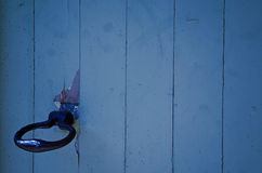 Дверь блю деревянная Стоковые Изображения