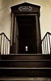 Дверь входа маяка Южной Каролины острова звероловства стоковые изображения rf