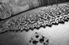 Дверь высекаенная медью Стоковые Фото