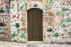 Дверь в арабском квартале Стоковая Фотография