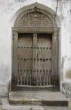 Дверь в Занзибаре стоковое изображение