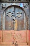 Дверь в квадрате Hanuman Dhoka Basantapur Durbar на Катманду Стоковые Изображения RF