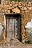 Дверь в районе cruces las, Ла Alcala реальном Стоковая Фотография