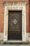 Дверь в стародедовской крепости стоковое фото