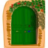 Дверь в стене Стоковые Изображения
