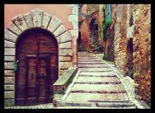 Дверь в Casperia стоковое изображение
