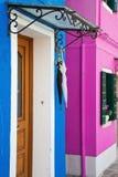 Дверь голубого дома Стоковое фото RF